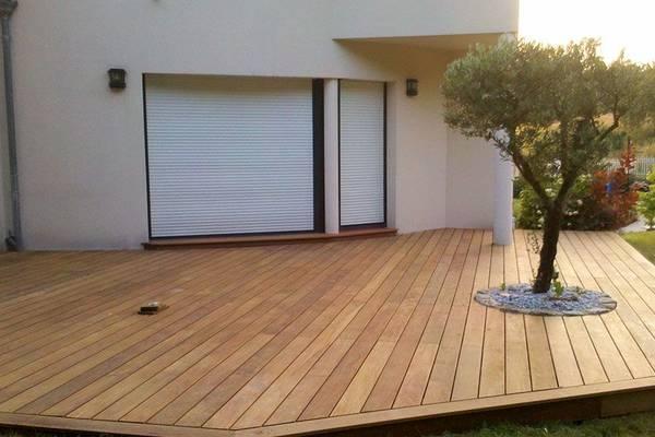terrasse en bois bureau