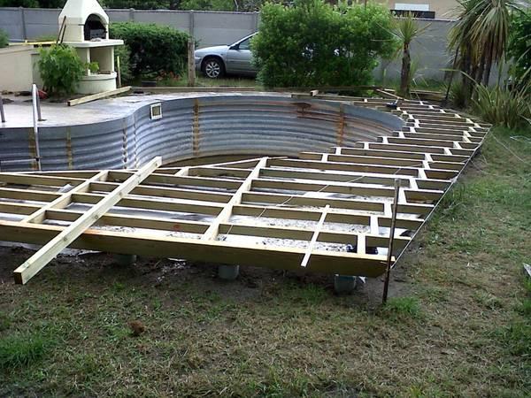 pose terrasse composite sur plot reglable