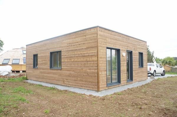 maison bois scandinave contemporaine