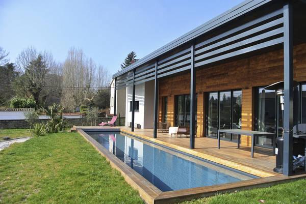maison passive bois plain pied